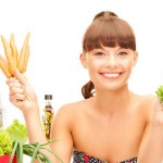 glimlach met groenten en fruit