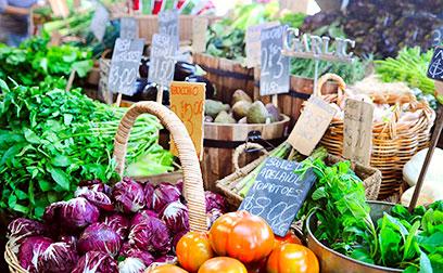 biologische groentenmarkt