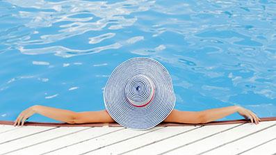 relaxen in het water