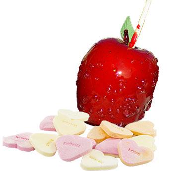 zoete appel en honger naar chocolade