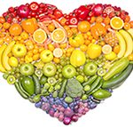 hart van groente en fruit