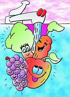 groenten wassen