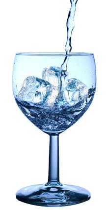 water met ijs